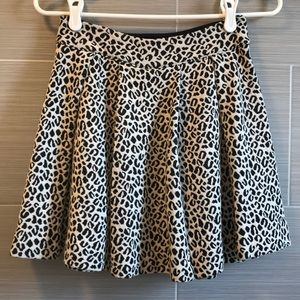 Leopard print skater skirt from Urban Outfitters